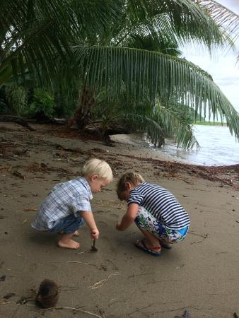 Danny's Village Homestay: Kids playing on Danny's beach