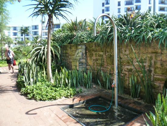 Shower in garden Picture of Breakers Resort Umhlanga Rocks