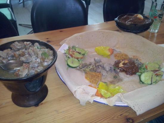 Axum: Enjerra and condiments