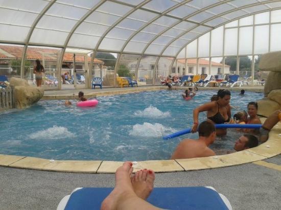 Camping le Moulin de la Salle : la piscine chauffée