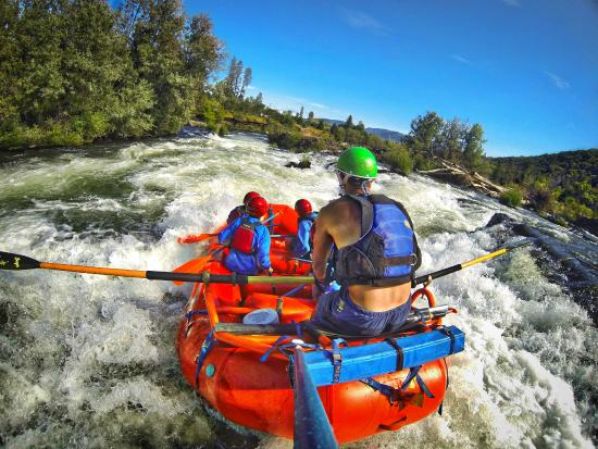 Orange Torpedo Rafting Trips: Headed into Powerhouse Rapid on the Rogue River