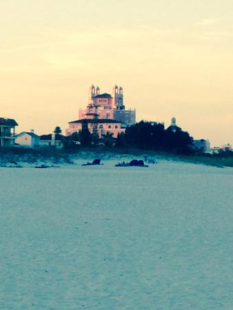 Beach House Suites by Loews Don CeSar : Taken from the beach behind our hotel at 6:30am!