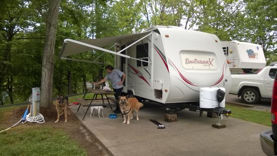 Big Meadow Family Campground: River sites are small but beautiful.