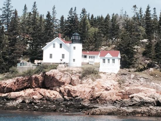 Islander Puffins, Seabirds & Lighthouses Tour: One of 5 lighthouses. Think it is Bear Island light house.
