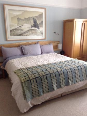 Oriel Milgi: Mor the dog friendly room at the front of the house with huge super Kingsize bed and wonderful 1
