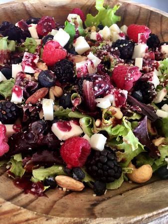 Fresh raspberry salad