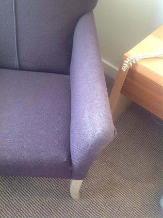 Holiday Inn London-Bexley: Dirty stained chair for almost £100 per night!