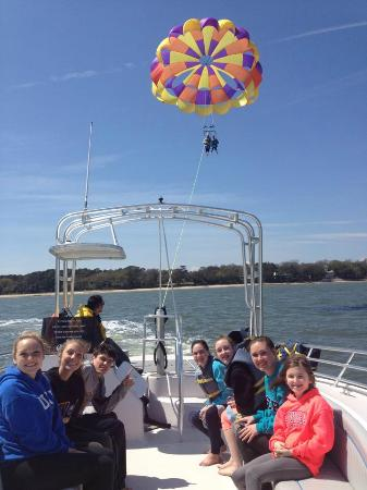 Parasailing At Island Head Watersports
