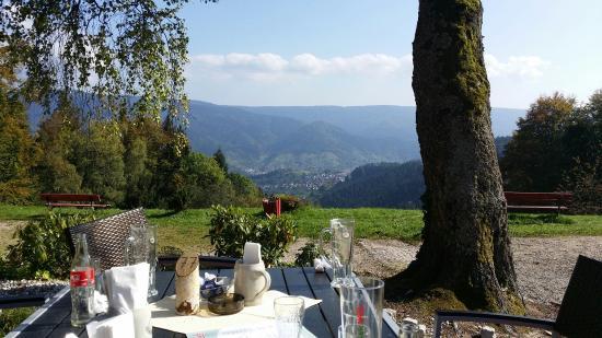 Forbach, Germany: Blick vom Biergarten ins Murgtal
