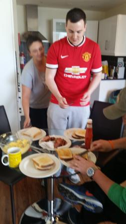 Your Home from Home - Southdock: Breakfast served by our favorite Irish friends!