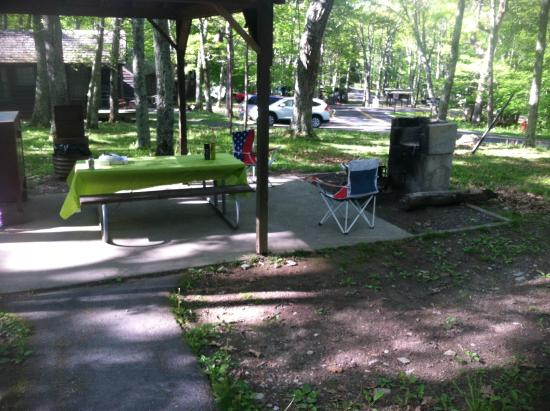 Lewis Mountain Cabins: Personal picnic area