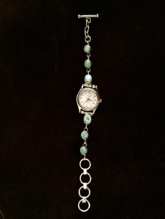 Thunder Eagle Native Art: Dry creek turquoise bracelet watch