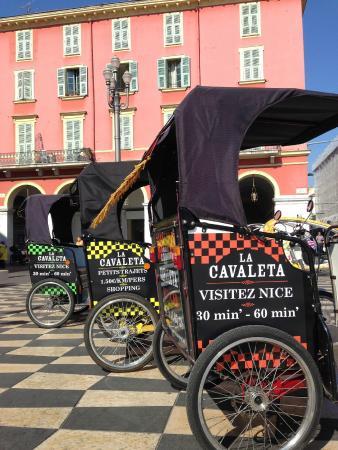 La Cavaleta - votre velo taxi a Nice