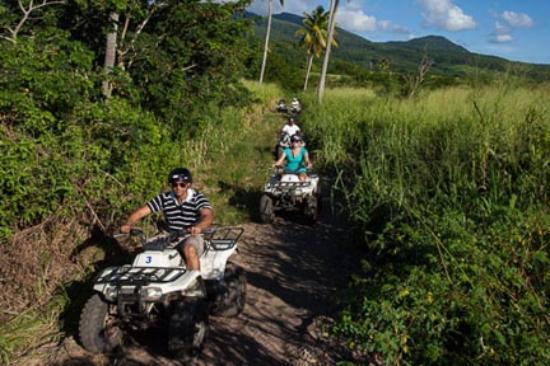 ATV rides through the St. Kitts Rainforest