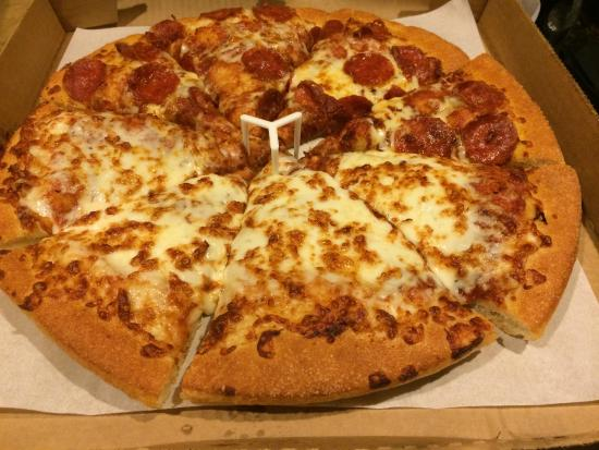Pizza Hut Half Cheese Pepperoni Pan