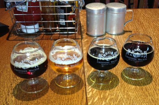 Taproom at Firestone Walker Brewing Company: four excellent brews