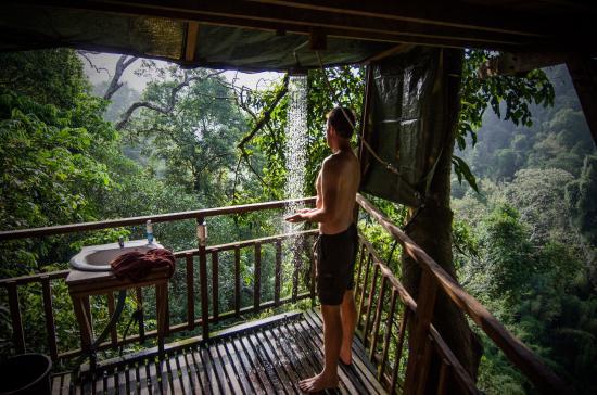 Huay Xai, ลาว: Tree house number 6 - on the waterfall trip