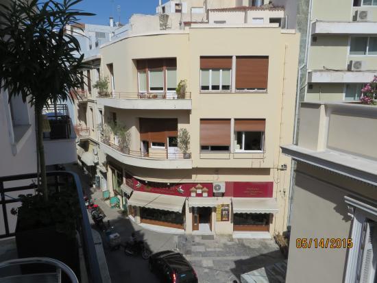 Kimon Athens Hotel: view from patio