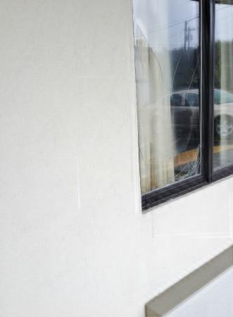 Super 8 - Monteagle TN : BROKEN WINDOW GLASS TWO ROOMS FROM OUR ROOM