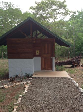 One of the teak jungle cabinas