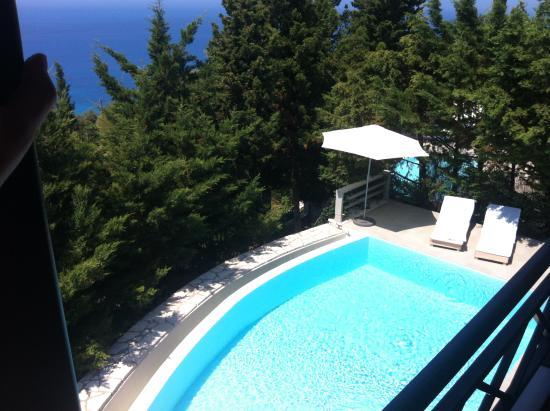 Idilli Villas Lefkada: Foto desde terraza del salón de la villa en la que nos alojamos