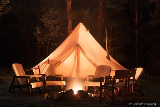 Cosy Tents Cosy Tent by the fire pit. & Cosy Tent by the fire pit. - Picture of Cosy Tents Sailors Falls ...