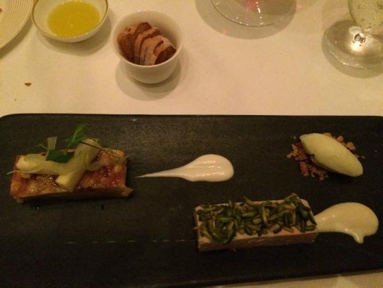 Catalan : foie gras with apple terrine