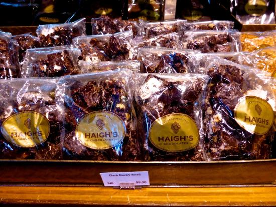 Beehive Corner Building: Haigh's Chocolates