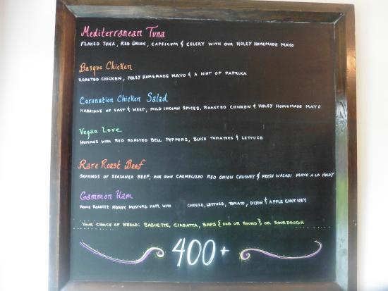 Holey Artisan Bakery: menu