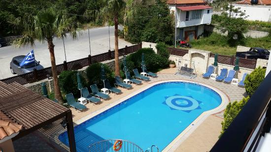 Pool area from the balcony