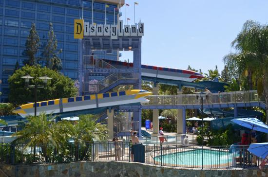 Pool And Water Slide Area Picture Of Disneyland Hotel Anaheim