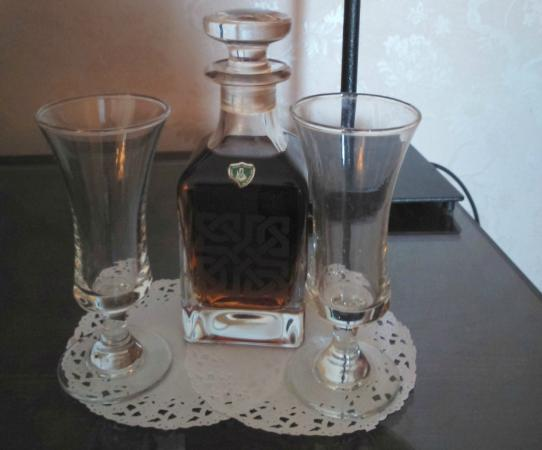 Baytree House: welcoming carafe of Sherry