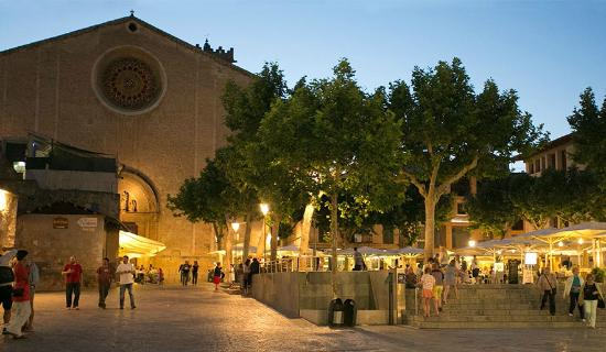 Can Olesa: The Church (our lady lady of Angels) in the town of Pollensa