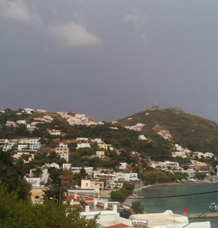 Atlantis Hotel & Studios: vy från balkongen