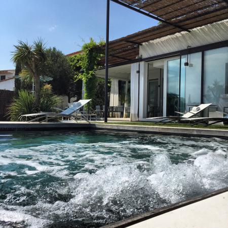 Tr s belle vue de la terrasse de la chambre picture of hotel calma blanca - Jacuzzi exterieur 4 places ...