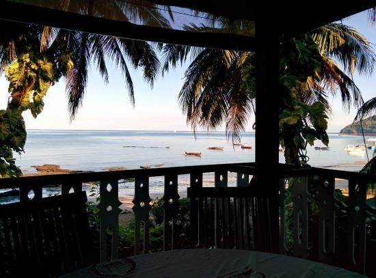 Hotel Gerard et Francine: La vue au petit déjeuner