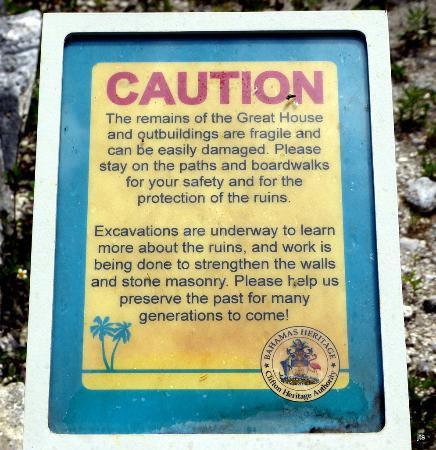 Clifton Heritage National Park: Comment on slave quarters