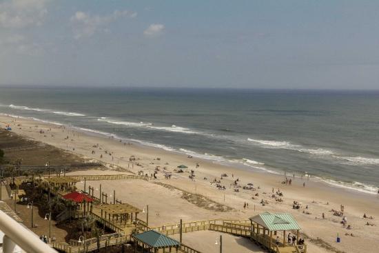 Carolina Beach Boardwalk: Long view from Marriott 10th floor