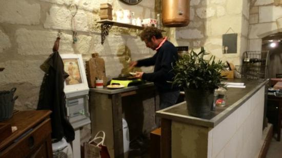 Le Petit Hureau : Christian onze gastheer en chef kok