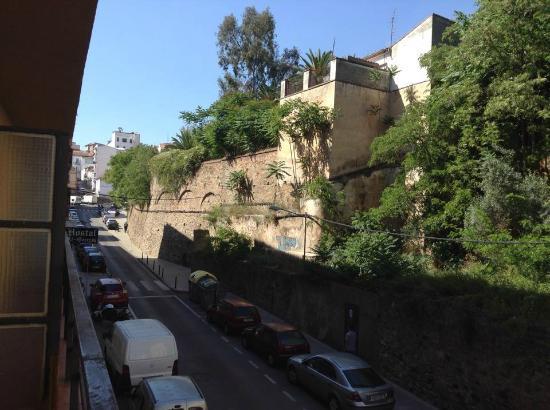 Hostal Al-Qazeres: Uitzicht vanuit balkon