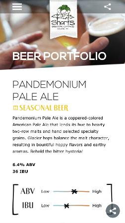Bellaire, MI: Love the Webpage of the beers