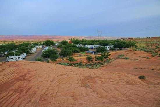 Page - Lake Powell Campground: view over the campground from the near hill