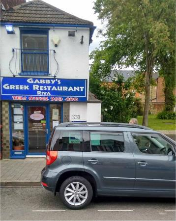 Gabby's Greek Taverna: If you're lucky you can park right outside.