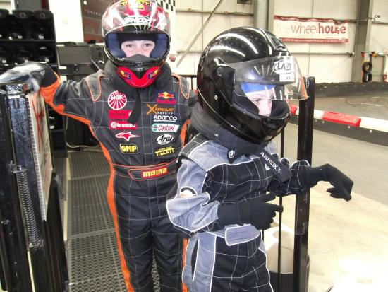 Xtreme Karting Falkirk: Kids kitted up ready for a few laps