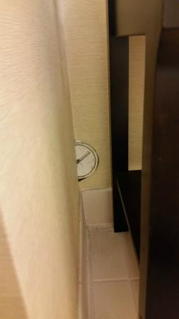 Holiday Inn Express Greenville Downtown: Unattractive bathroom
