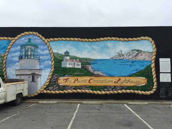 The point conception lighthouse picture of the murals of for California mural