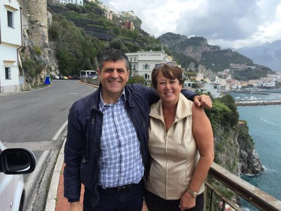 Sorrento top driver tours : Amalfi Coast Tour with Raffaelle (Monetti Taxi Service).