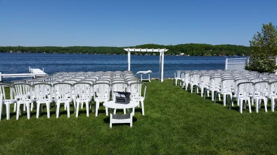 beautiful view of gun lake and lovely wedding venue picture of rh tripadvisor com