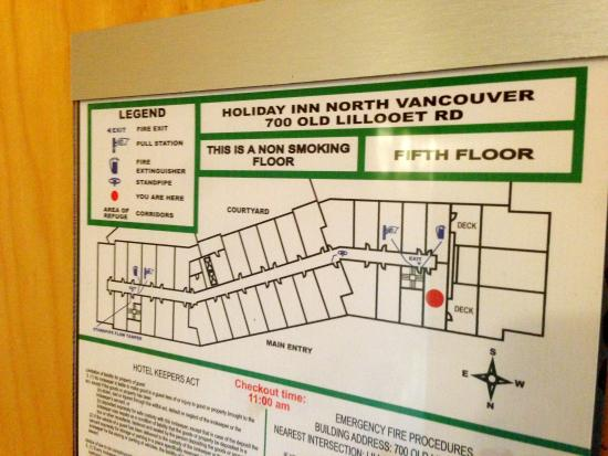 Holiday Inn Hotel & Suites North Vancouver: Floor map