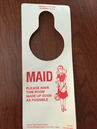 "Chalet Inn & Suites: Vintage ""Do Not Disturb"" Sign"